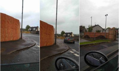 Killylea Road obstruction