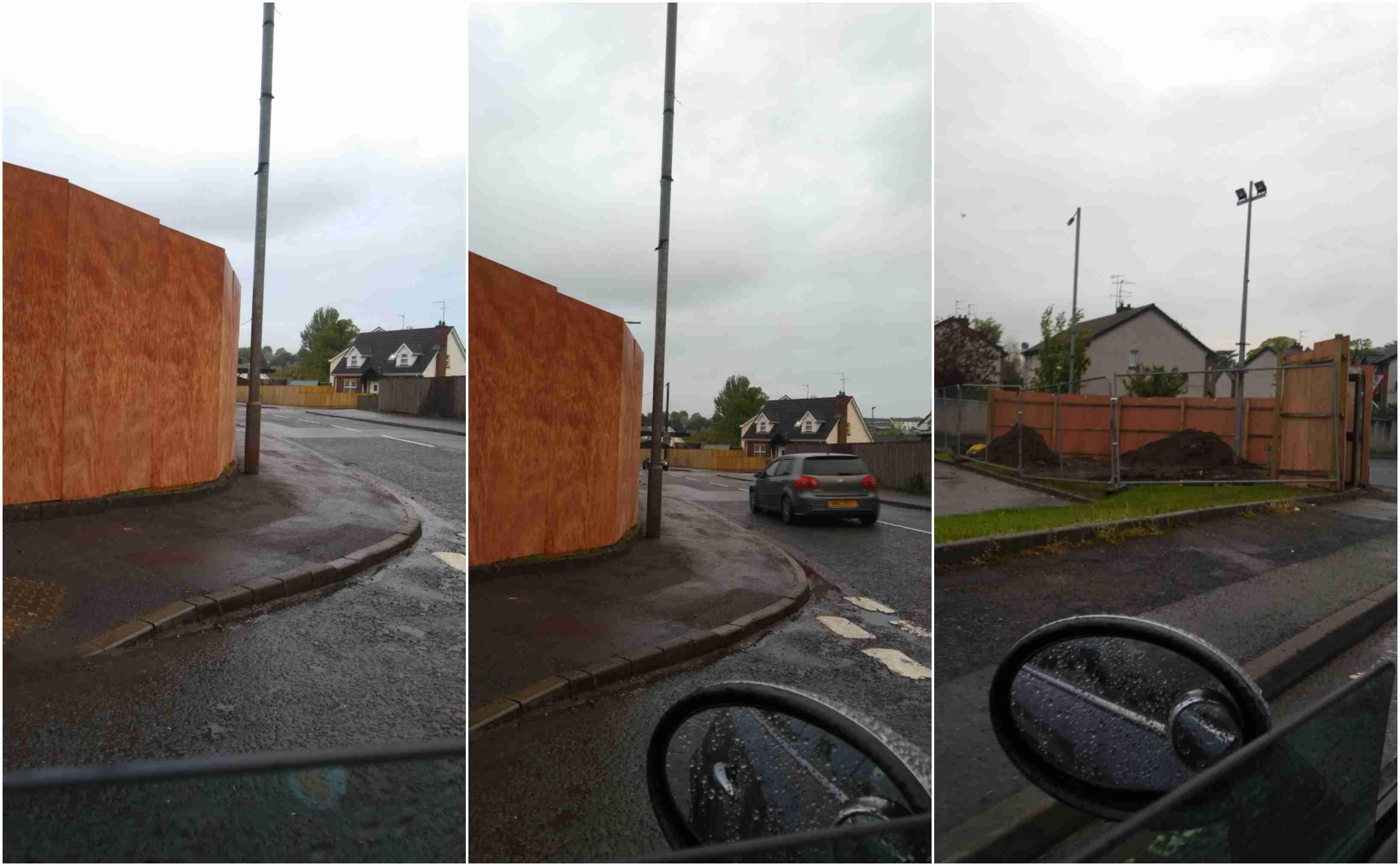 Killylea Road obstruction