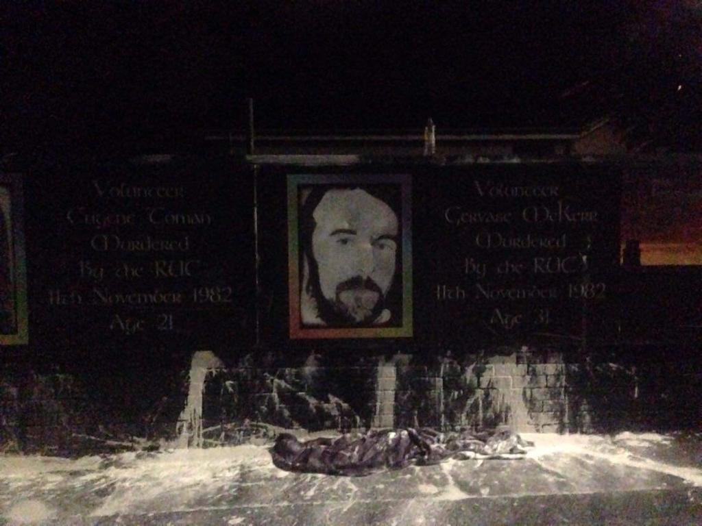 Kilwilkie memorial paint bomb attack