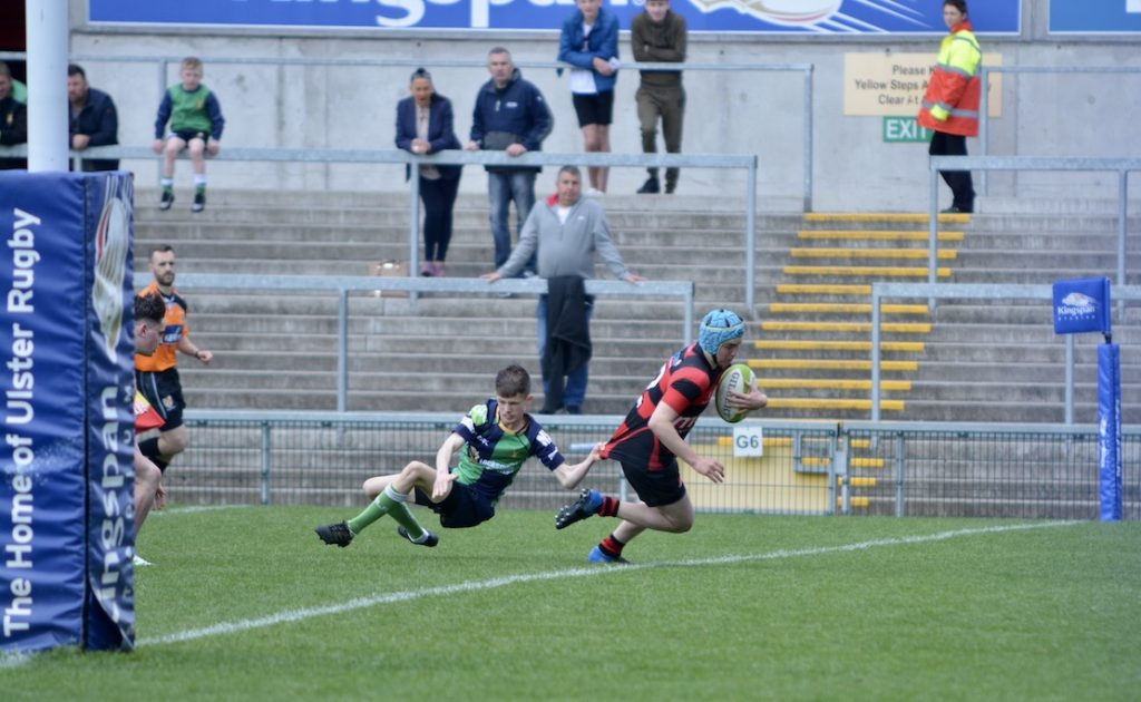R J McCall score Armagh's second try