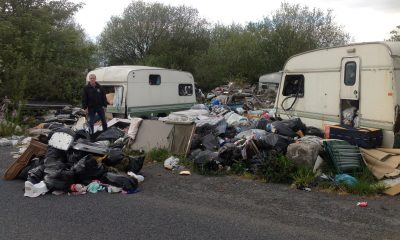 Caravan park dump in Crossmaglen, south Armagh