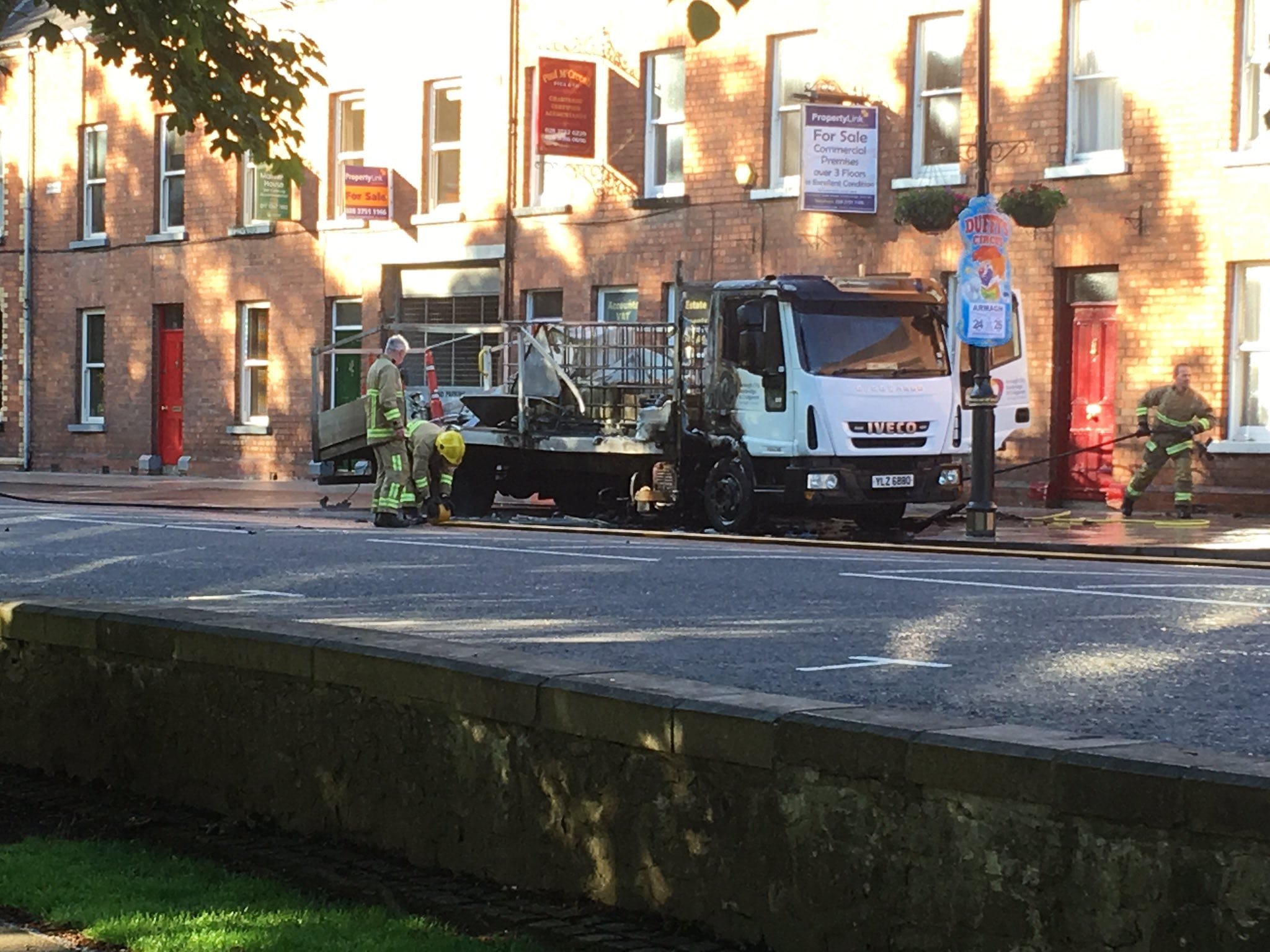 Lorry fire Armagh