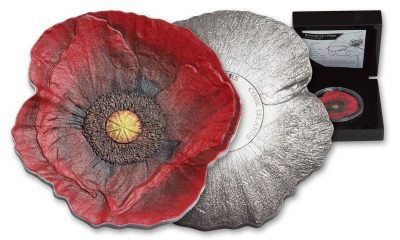 Silver Poppy of Remembrance