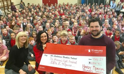 Hardy Memorial Primary School raise money for the NI Air Ambulance