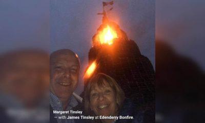 Margaret and James Tinsley bonfire