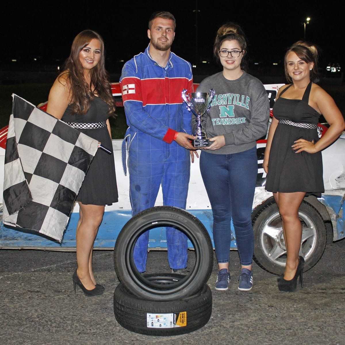 Steven Haugh won the McElmeel McElmeel mobility services final for the ProStocks at Tullyroan on Saturday night
