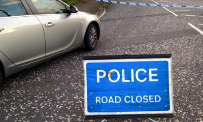 Accident police road closed