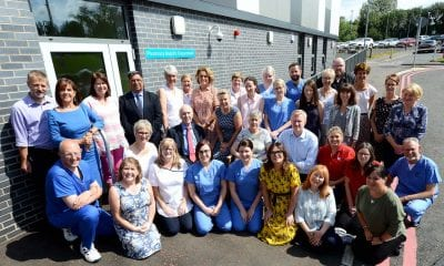 Pictured are Southern Trust staff and members of the McWilliams family celebrating the opening of the new Aseptic Suite at Craigavon Area Hospital