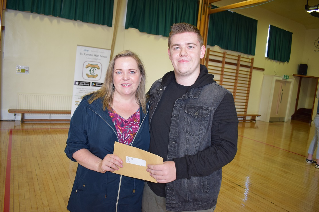 Conor Garvey pictured with his mum