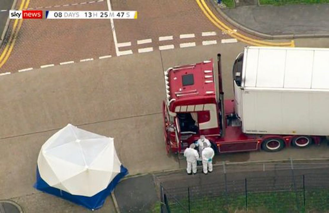 Two held on suspicion of manslaughter in connection with Essex truck