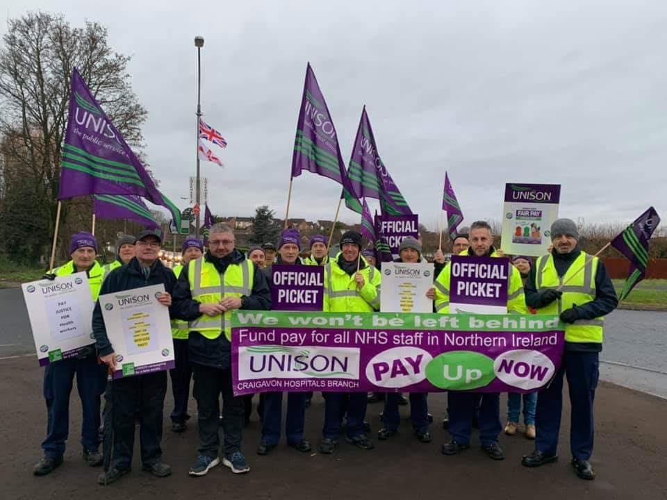UNISON strike Craigavon Hospital