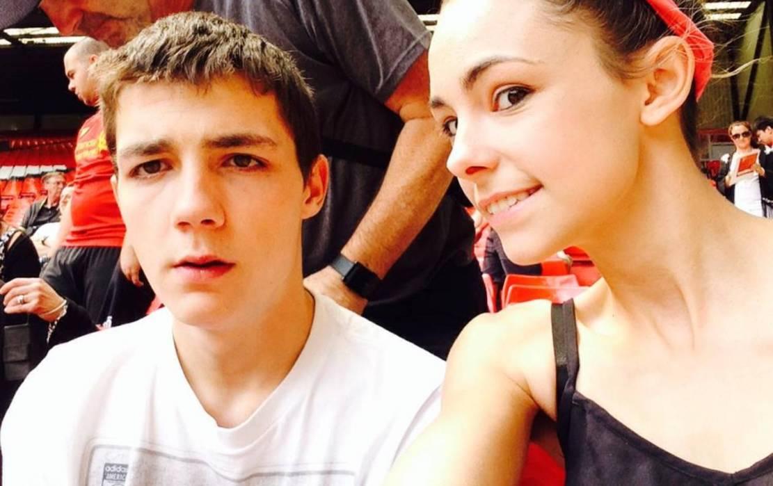 Nathan Gibson and fiancee Joanna Black