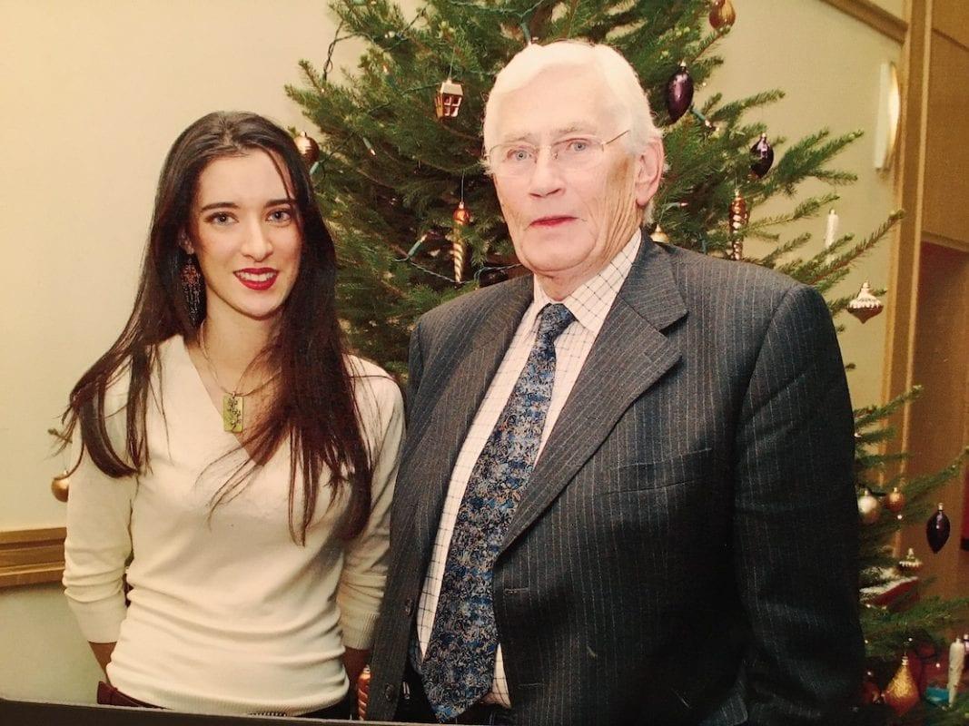 Seamus Mallon with Sharon Haughey