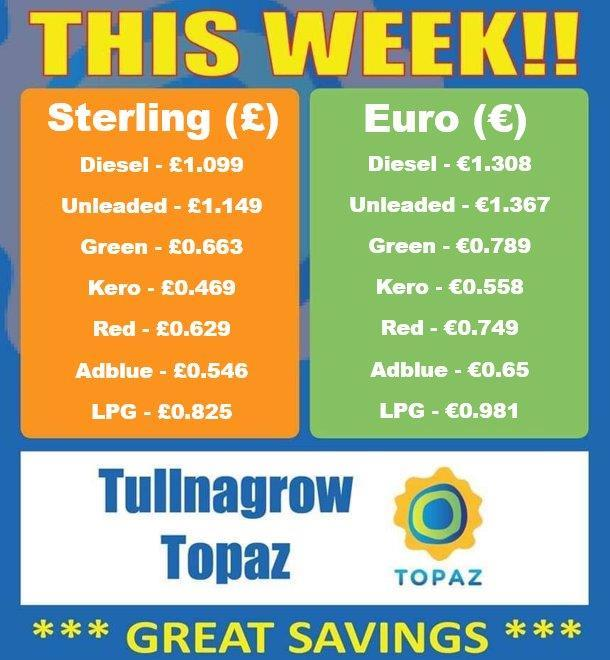 Tullynagrow fuel prices