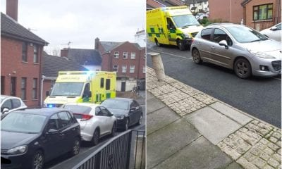 Ambulance stuck in Newry