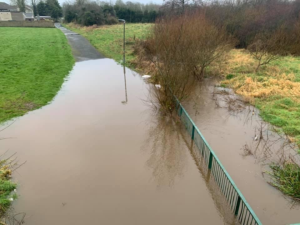Brownlow flooding. Photo by Councillor Thomas Larkham.
