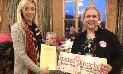 Carla Lockhart MP with Ms Joanne Harris of Knitted Knockers