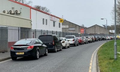 Traffic at Armagh Recycling Centre
