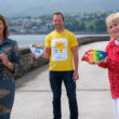 Calling for entries for their Voices of Covid 2020 book are from left: Patricia Trainor, Chairperson, PIPS Hope and Support; Gavin McGuckin, Community Fundraiser, Maire Curie and Bronagh McKeown, Chairperson, Voices of Covid Project
