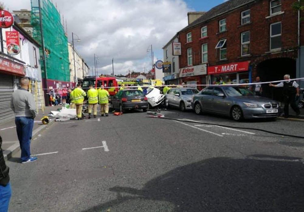 Portadown crash Bridge Street