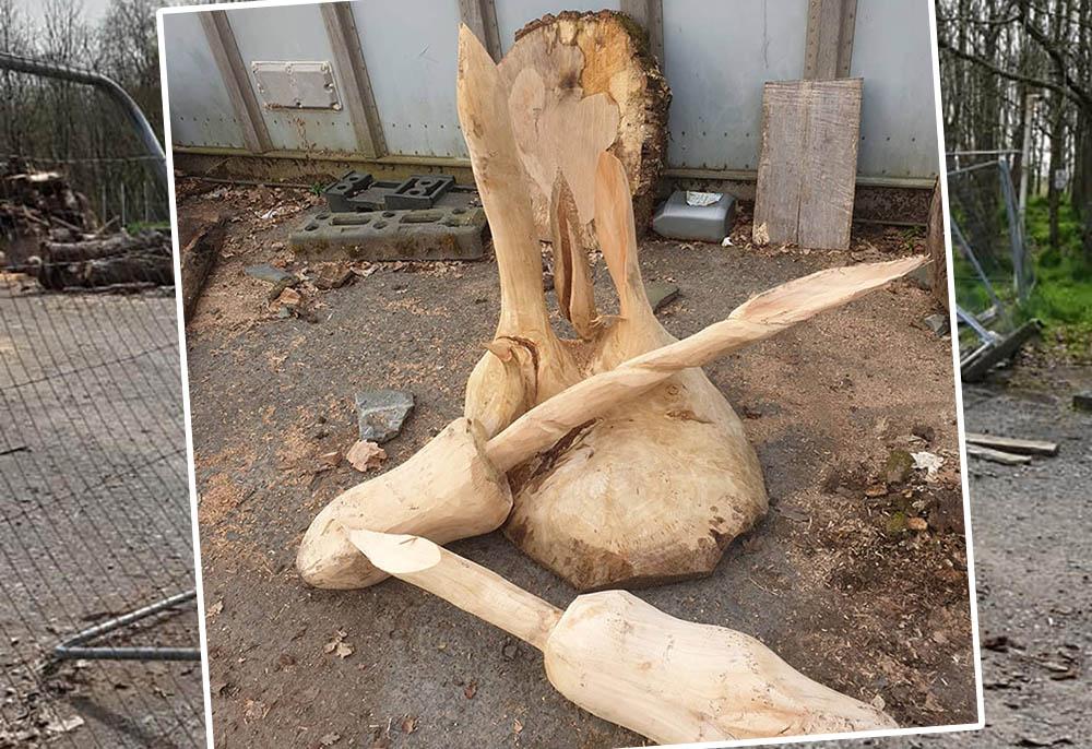Craigavon wood carver