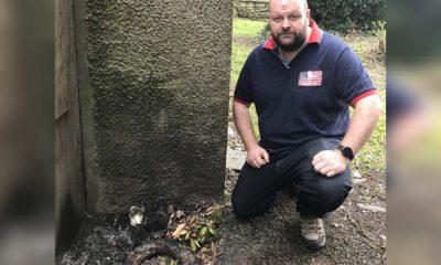 Mark Baxter wreaths fire Donaghcloney