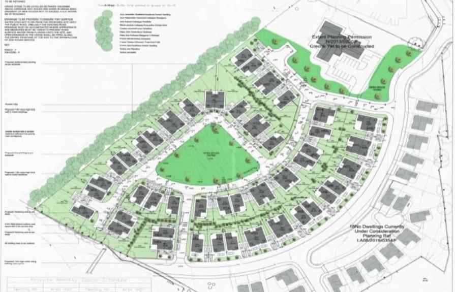 Proposed layout Lurgan site