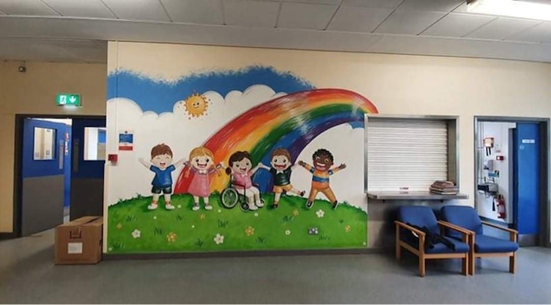 CMK Doodles hospital mural
