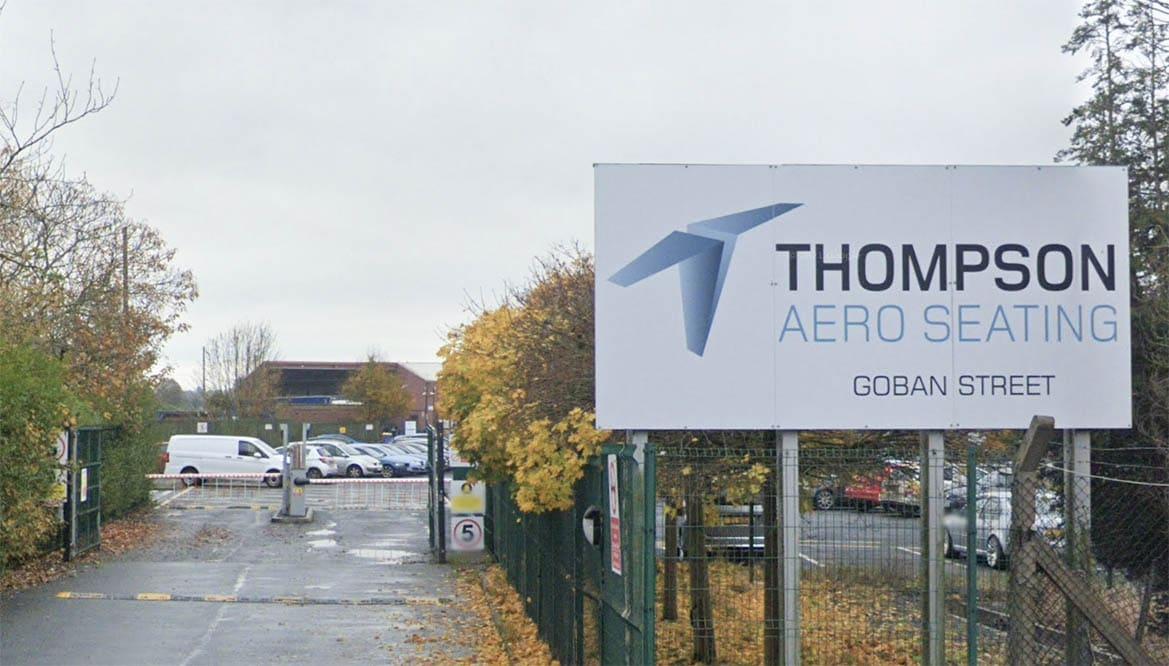 Thompson Aero Seating Goban Street Portadown
