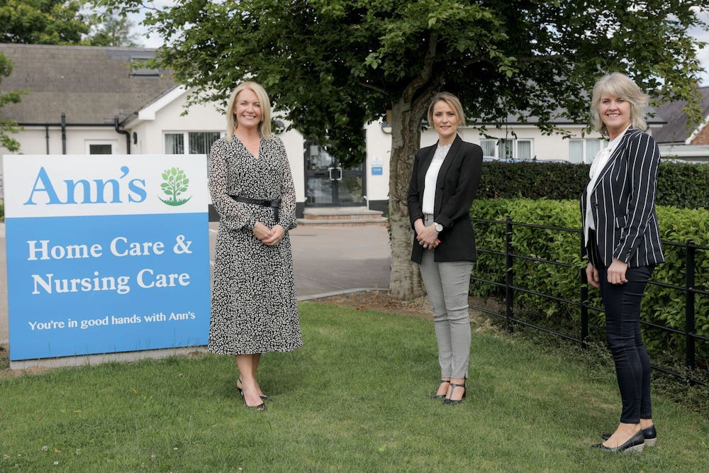 Pictured (l-r) is Louise Tiffney, Relationship Director, Barclays Corporate Banking in NI, Charmaine Hamilton, Responsible Person and Gabrielle McArdle, Operations Manager, Ann's Care Homes Ltd