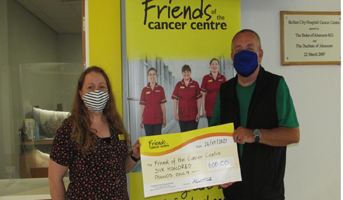 Kieran O'Toole Cancer cheque