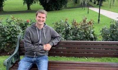 Peter Lavery chatty bench Lurgan Park