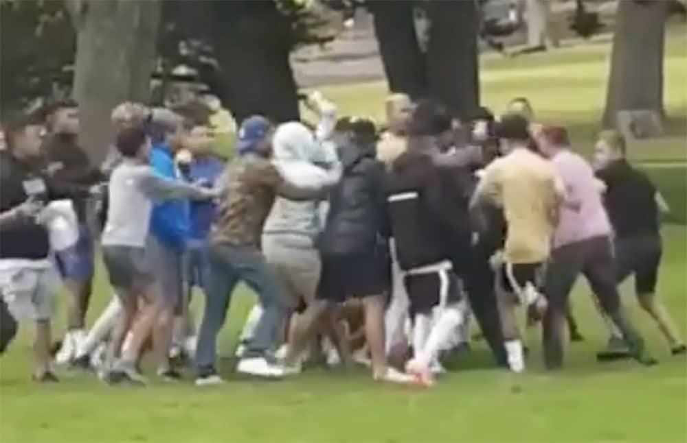 Portadown People's Park brawl