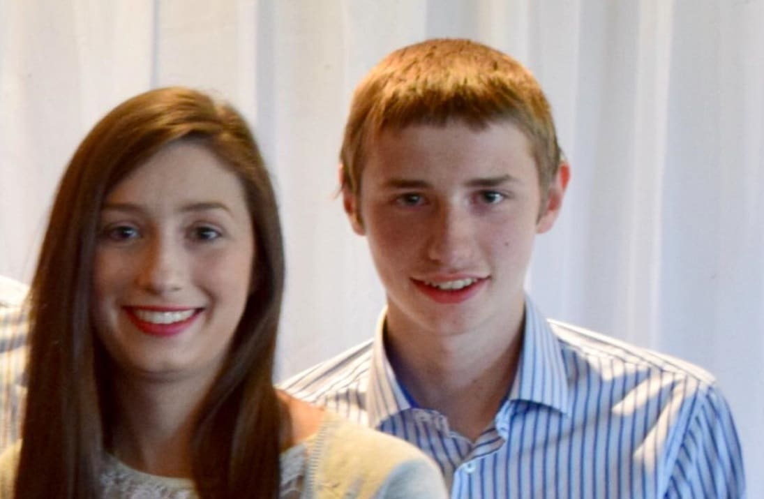 Ruth irwin pictured with her brother John before his sad passing