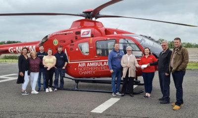 Amanda Quigg donation Air Ambulance