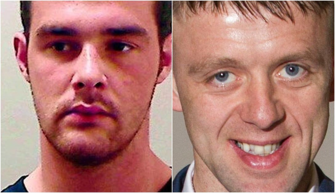 Daniel Carroll (left) accused of Brian Phelan (right) murder