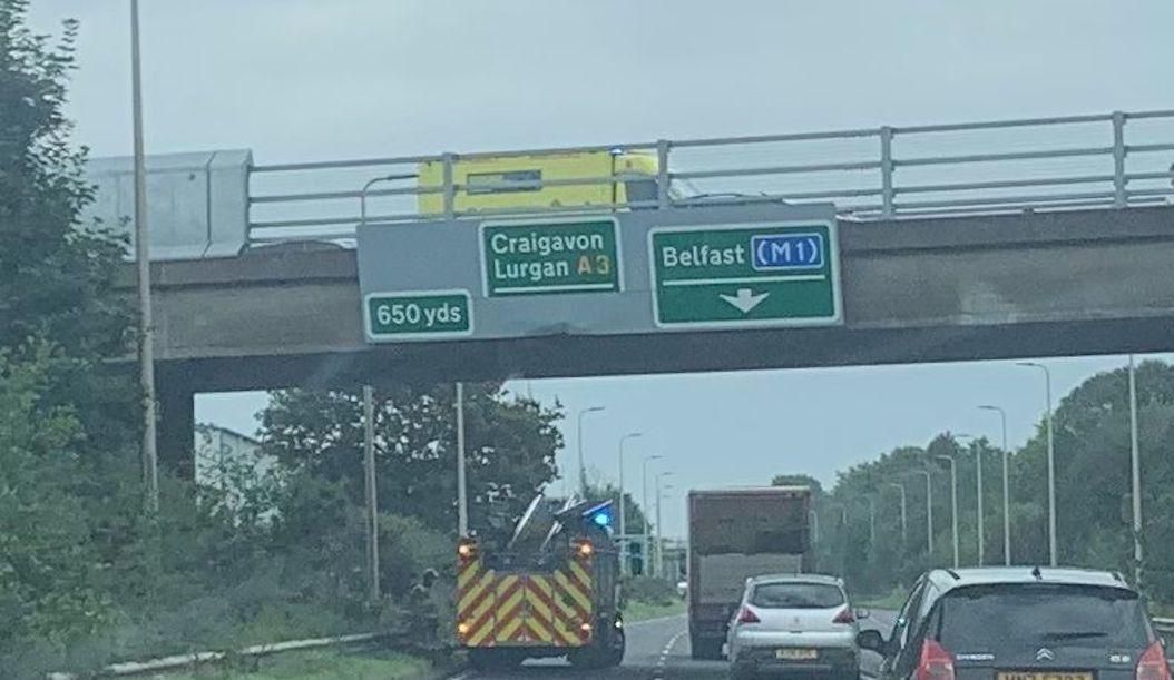 Seagoe Road bridge above Northway in Portadown